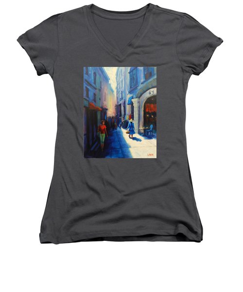 A Lady From Cajamarca In The City Women's V-Neck T-Shirt