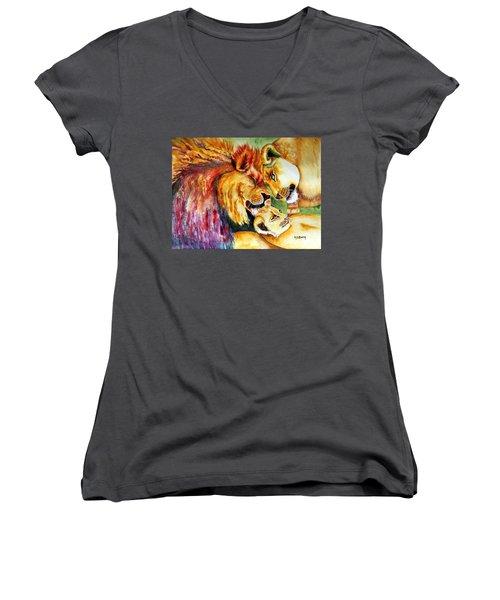 A Lion's Pride Women's V-Neck (Athletic Fit)