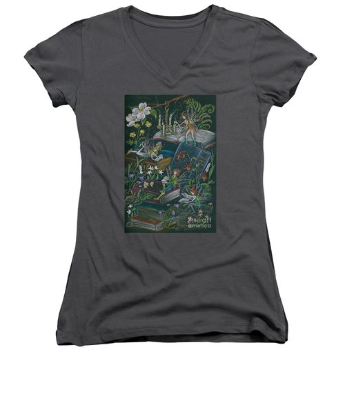 A Little Light To Read By Women's V-Neck (Athletic Fit)