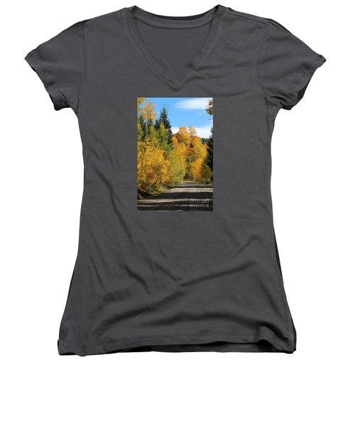 A Miraculous Autumn Vista Iv Women's V-Neck (Athletic Fit)