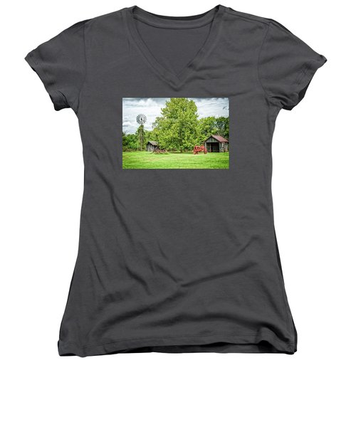 A Moment In Time Women's V-Neck T-Shirt