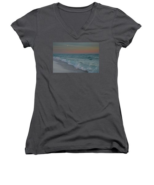 A Moonlit Evening On The Beach Women's V-Neck (Athletic Fit)