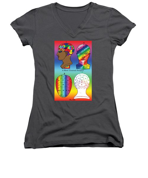 A Most Unusual Suspect Women's V-Neck (Athletic Fit)