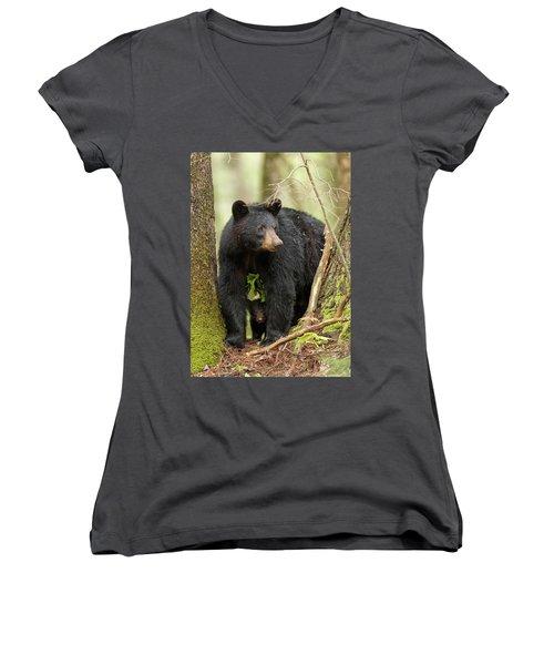A Mothers Love Women's V-Neck T-Shirt (Junior Cut) by Everet Regal