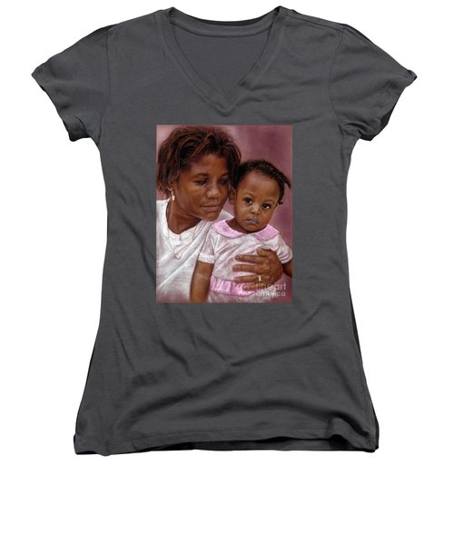 A Mother's Love Women's V-Neck (Athletic Fit)