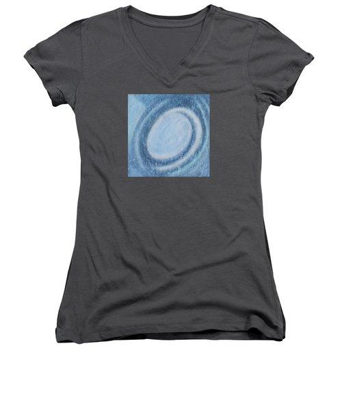 A Moving Women's V-Neck T-Shirt (Junior Cut) by Min Zou