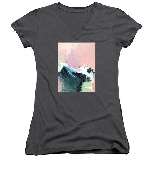 A New Dawn Women's V-Neck T-Shirt (Junior Cut) by Nathan Rhoads