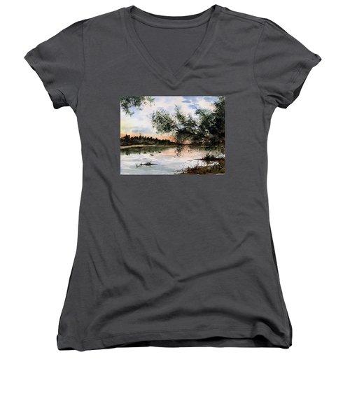A New Day Women's V-Neck T-Shirt (Junior Cut) by Sam Sidders