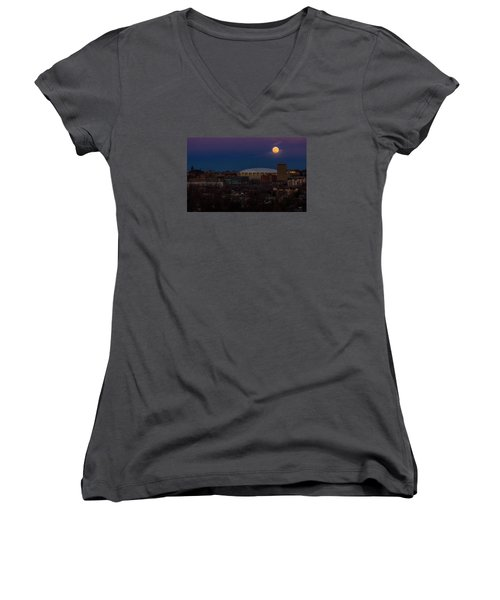 A Night To Remember Women's V-Neck T-Shirt (Junior Cut) by Everet Regal