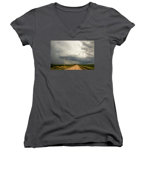 A Passion For Shelf Clouds 001 Women's V-Neck T-Shirt