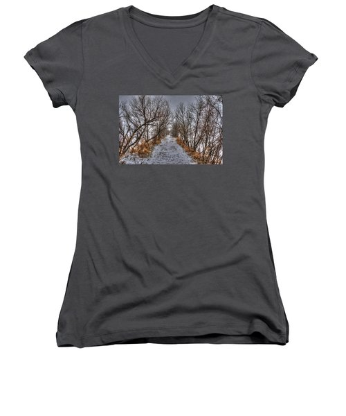 A Path Less Traveled Women's V-Neck T-Shirt