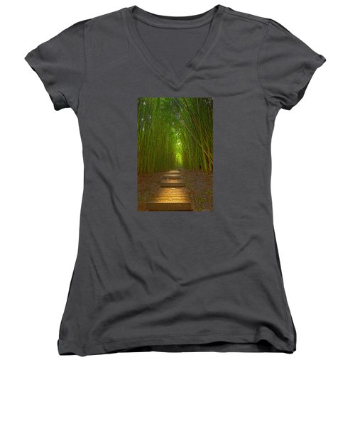 A Path Less Traveled Women's V-Neck (Athletic Fit)