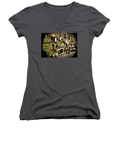 A Peek In The White Rabbits Hole Women's V-Neck (Athletic Fit)