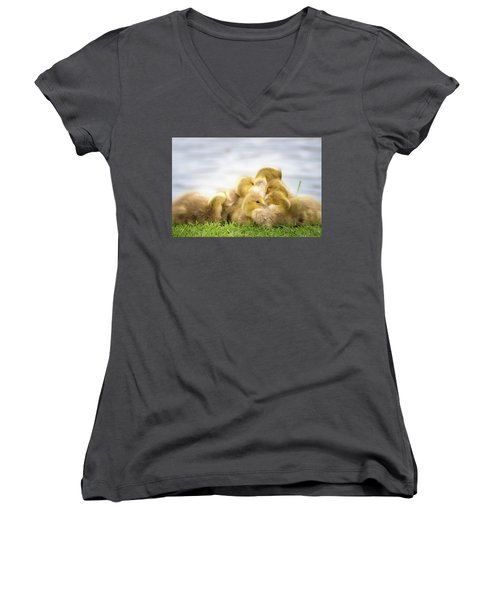A Pile Of Goslings Women's V-Neck (Athletic Fit)