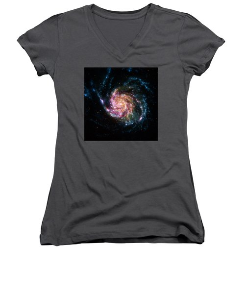 A Pinwheel In Many Colors Women's V-Neck