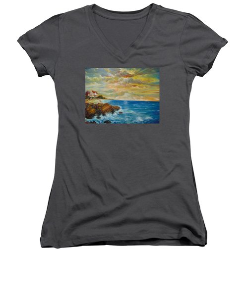 A Place In My Dreams Women's V-Neck T-Shirt (Junior Cut) by Emery Franklin