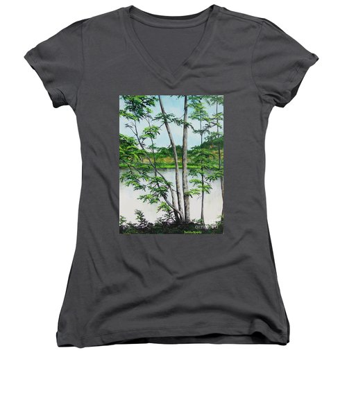 A Place Of Refuge Women's V-Neck (Athletic Fit)