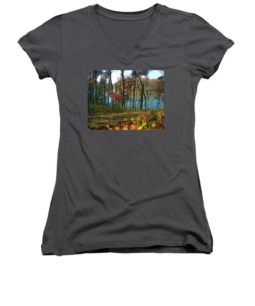 A Place To Think Women's V-Neck T-Shirt