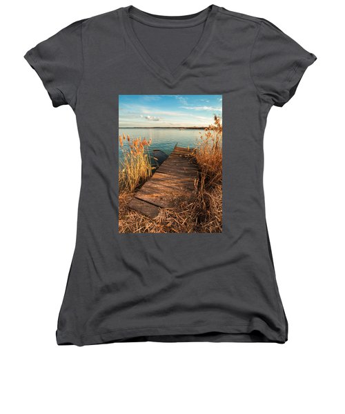 A Place Where Lovers Meet Women's V-Neck T-Shirt