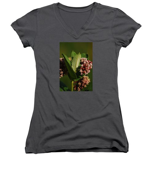 Women's V-Neck T-Shirt (Junior Cut) featuring the photograph A Pretty Bouquet by Ramona Whiteaker