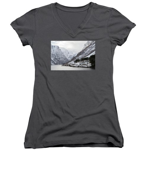 Women's V-Neck T-Shirt featuring the photograph A Quiet Life by David Chandler