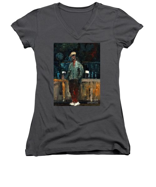 F 772  Holy Hour A Pint And A Spare. Women's V-Neck