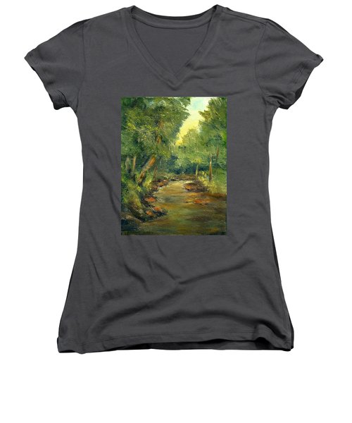 A Quiet Place Women's V-Neck T-Shirt