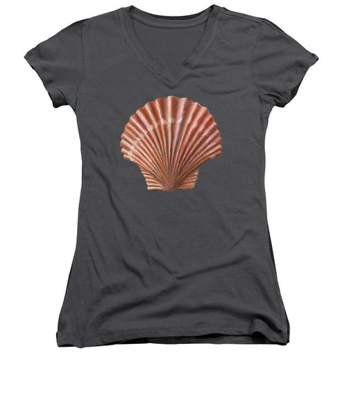 A Quincunx Of Scallop Shells Women's V-Neck
