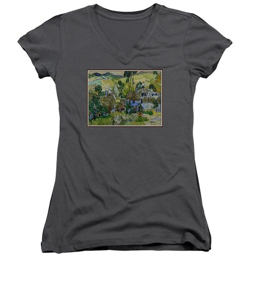A Replica Of A Painting  Of Van Gogh Women's V-Neck T-Shirt (Junior Cut) by Pemaro