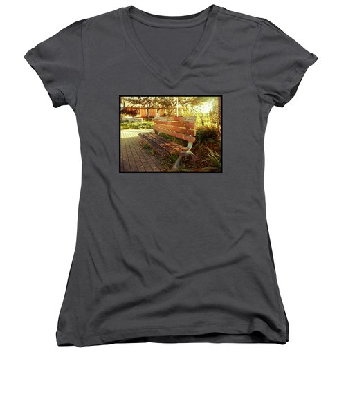 Women's V-Neck T-Shirt featuring the photograph A Restful Respite by Shawn Dall