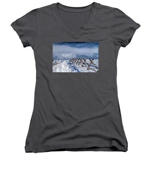A Road Less Traveled Women's V-Neck (Athletic Fit)