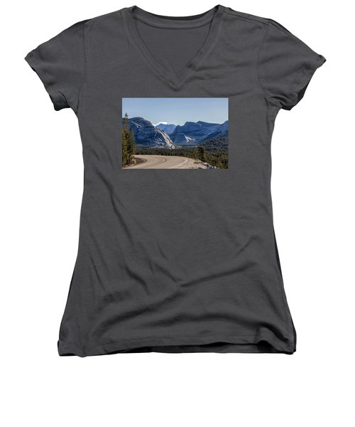Women's V-Neck T-Shirt (Junior Cut) featuring the photograph A Road To Follow by Everet Regal