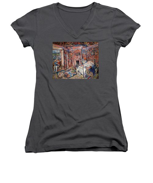 A Room With A View Women's V-Neck (Athletic Fit)