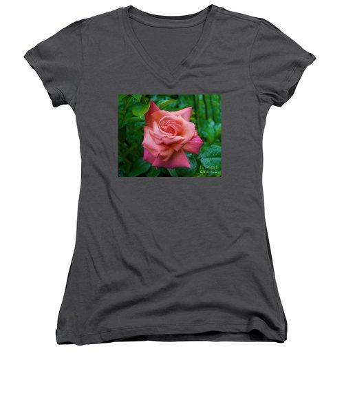 A Rose In Spring Women's V-Neck (Athletic Fit)