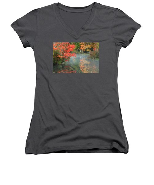 A Seat To Watch Autumn Women's V-Neck (Athletic Fit)