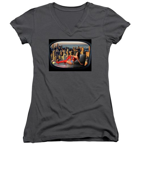 A Seat With A View Women's V-Neck