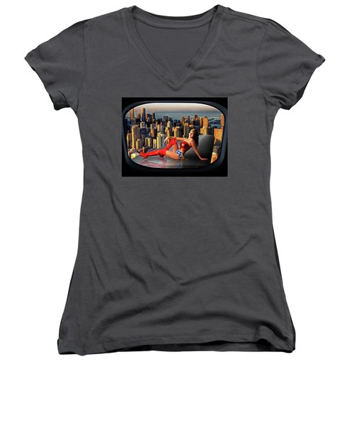 A Seat With A View Women's V-Neck (Athletic Fit)