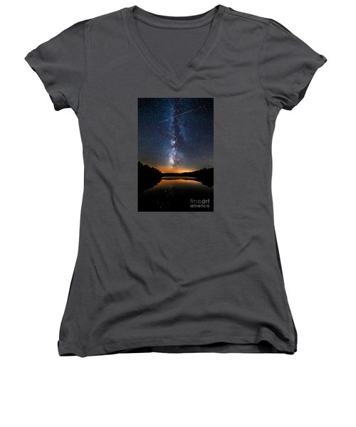 A Shooting Star Women's V-Neck T-Shirt