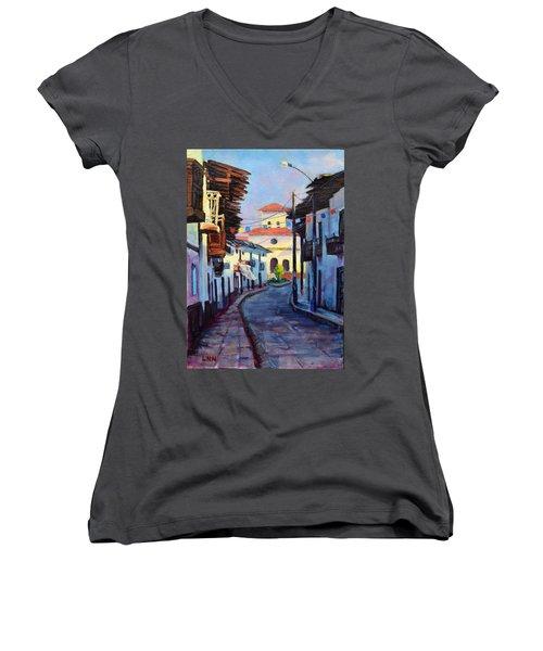 A Small Town Women's V-Neck T-Shirt