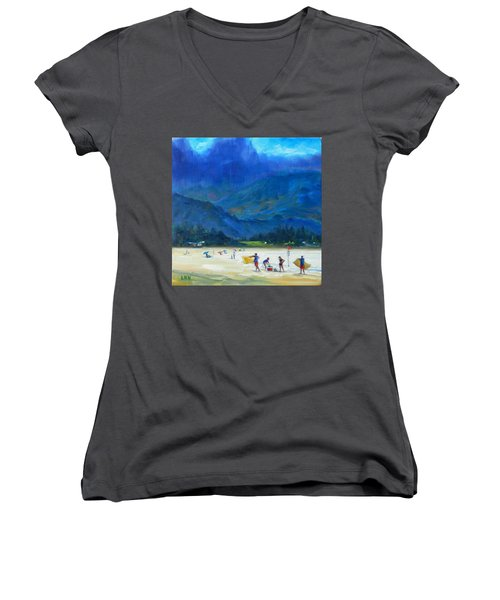 A Summer Day Women's V-Neck (Athletic Fit)