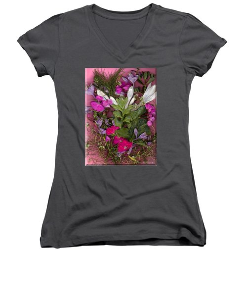 A Symphony Of Flowers Women's V-Neck (Athletic Fit)