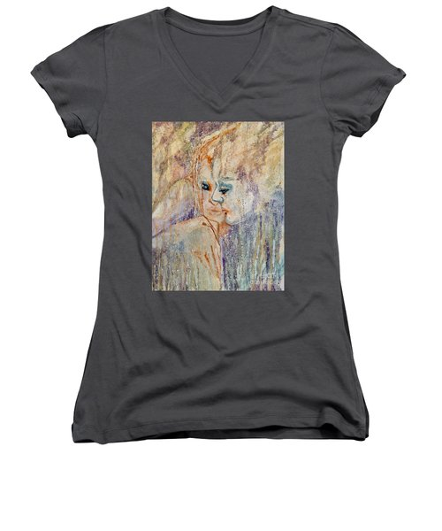A Tender Moment Women's V-Neck (Athletic Fit)
