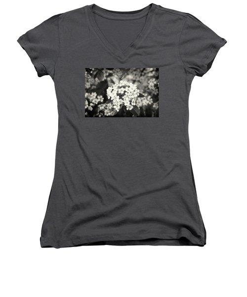 A Thousand Blossoms Sepia 3x2 Women's V-Neck