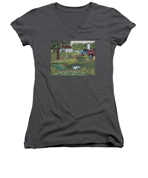 A Time To Play Women's V-Neck (Athletic Fit)