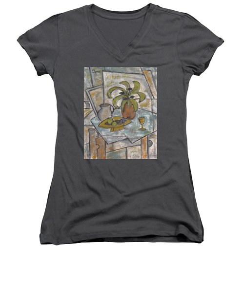 A Toast To Tranquility Women's V-Neck T-Shirt (Junior Cut) by Trish Toro