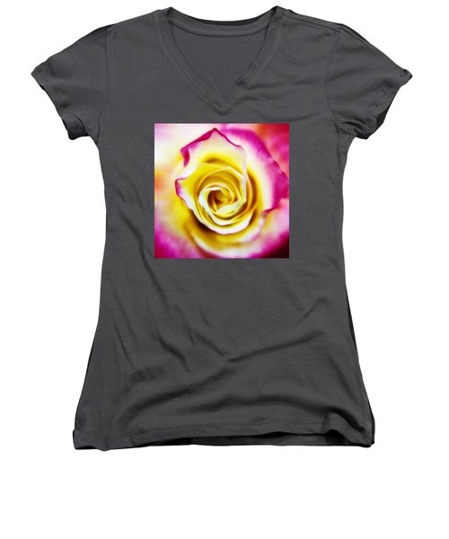 A Touch Of Pink Women's V-Neck (Athletic Fit)