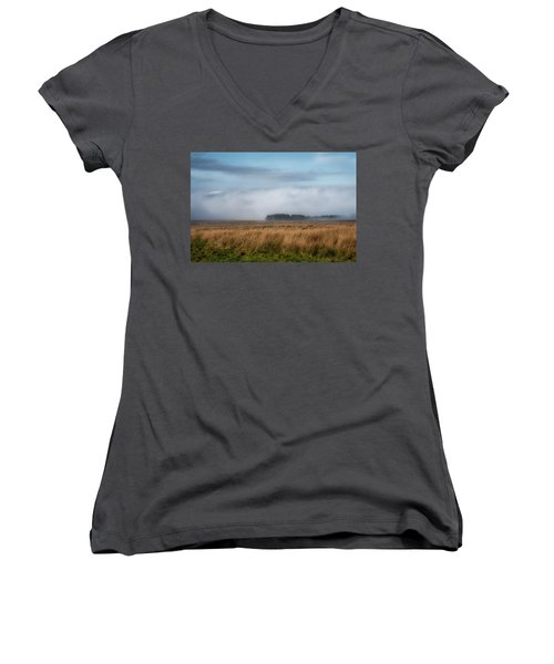 Women's V-Neck T-Shirt featuring the photograph A Touch Of Snow by Jeremy Lavender Photography