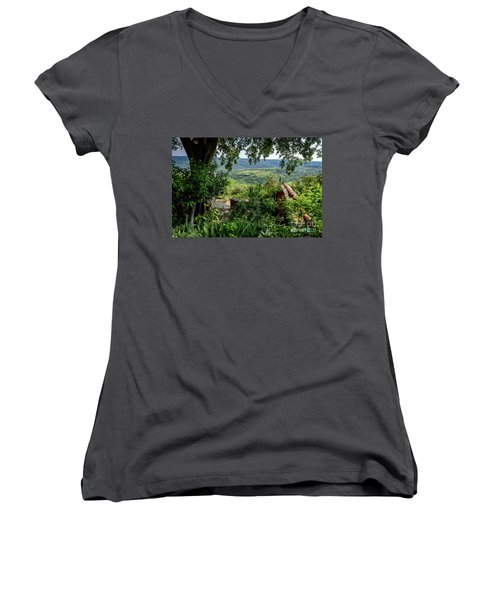 A View From Groznjan Of The Istrian Hill Town Countryside, Istria, Croatia Women's V-Neck