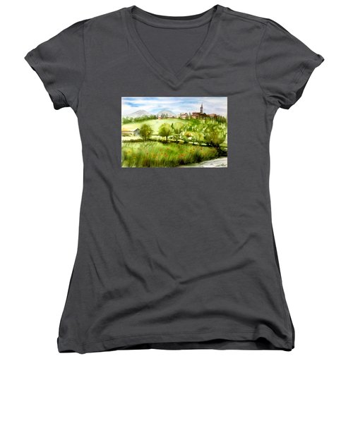 A View From Tuscany Women's V-Neck