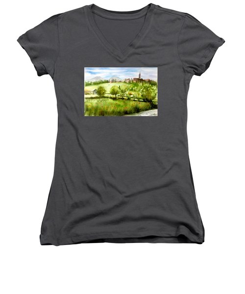 A View From Tuscany Women's V-Neck (Athletic Fit)
